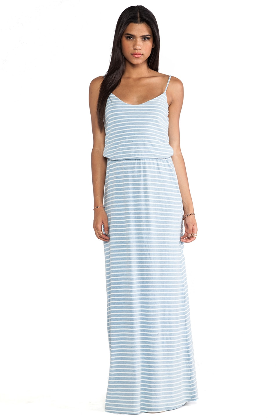 Splendid Indigo Dye Maxi Dress in Light Wash