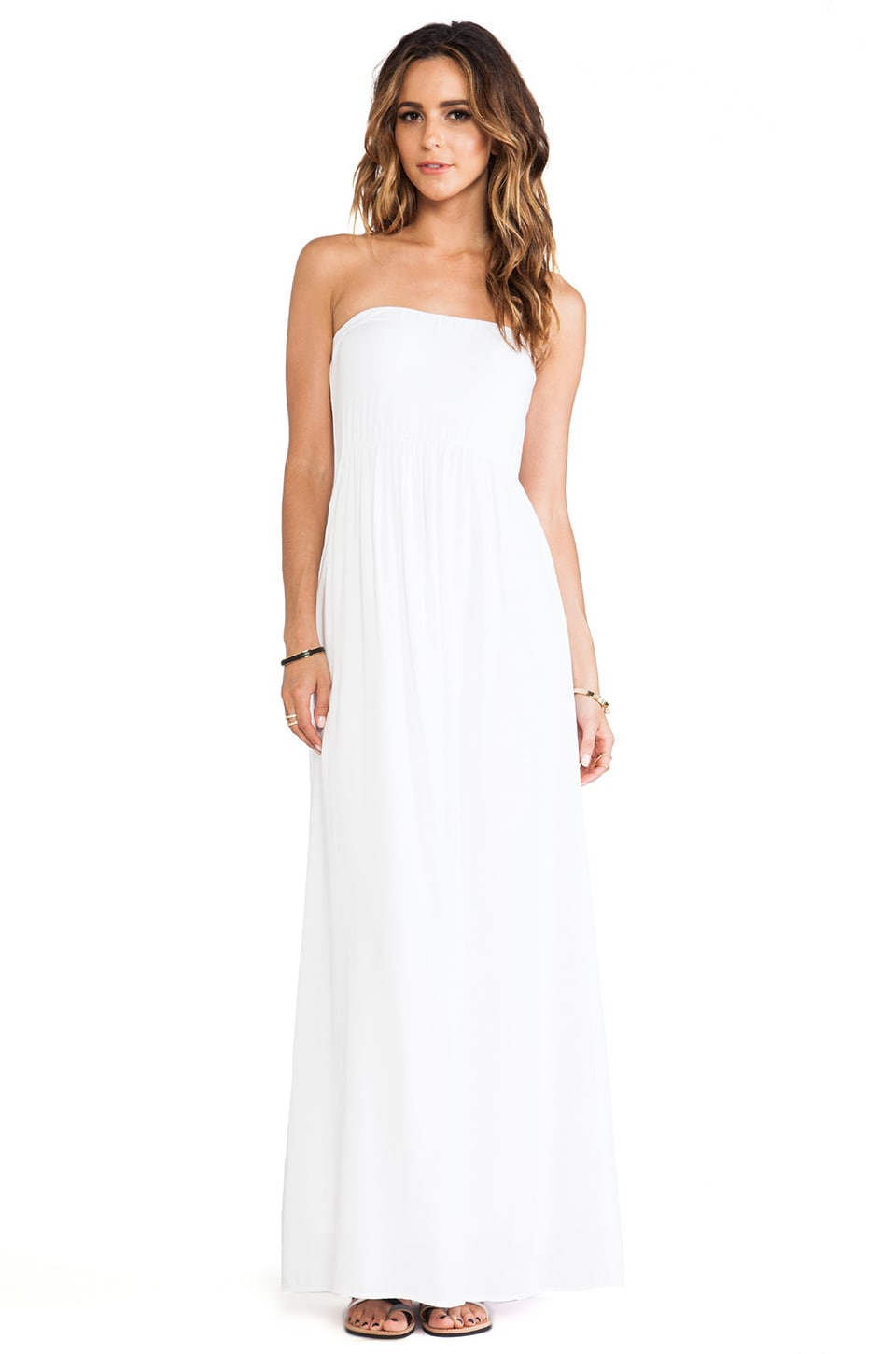 Splendid Strapless Maxi Dress in White