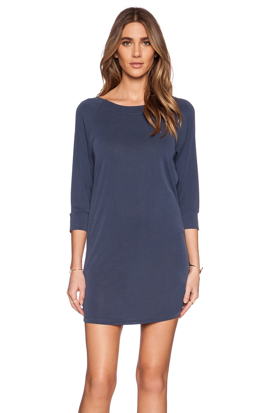 Splendid Sandwash Jersey Dress in Greystone