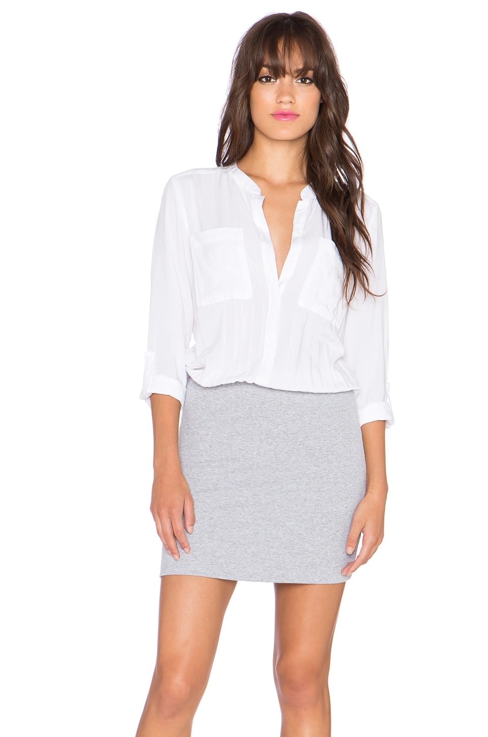 White Button Up Shirt Dress Images