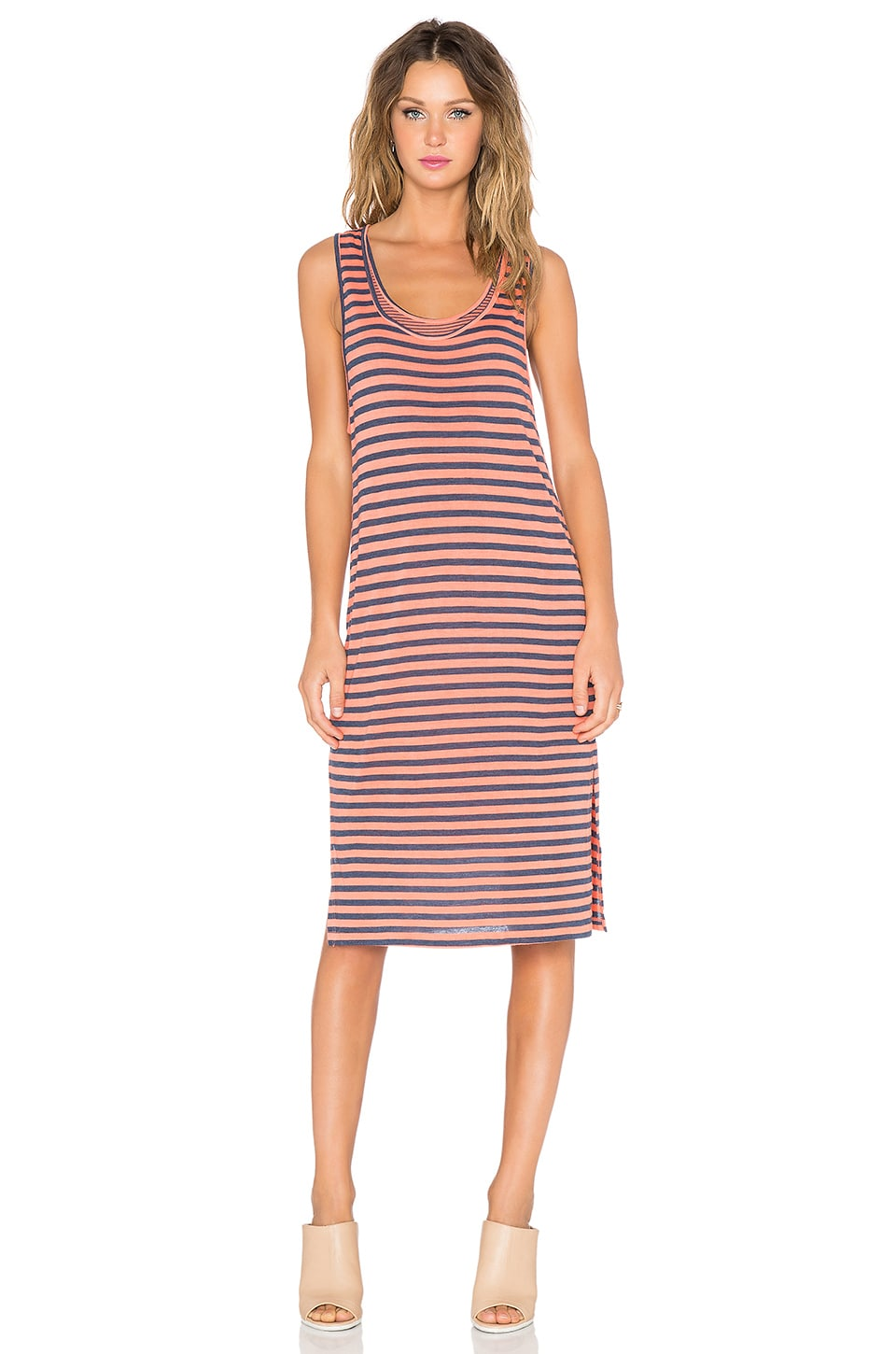 Splendid Monterosso Stripe Tank Dress in Sunrise