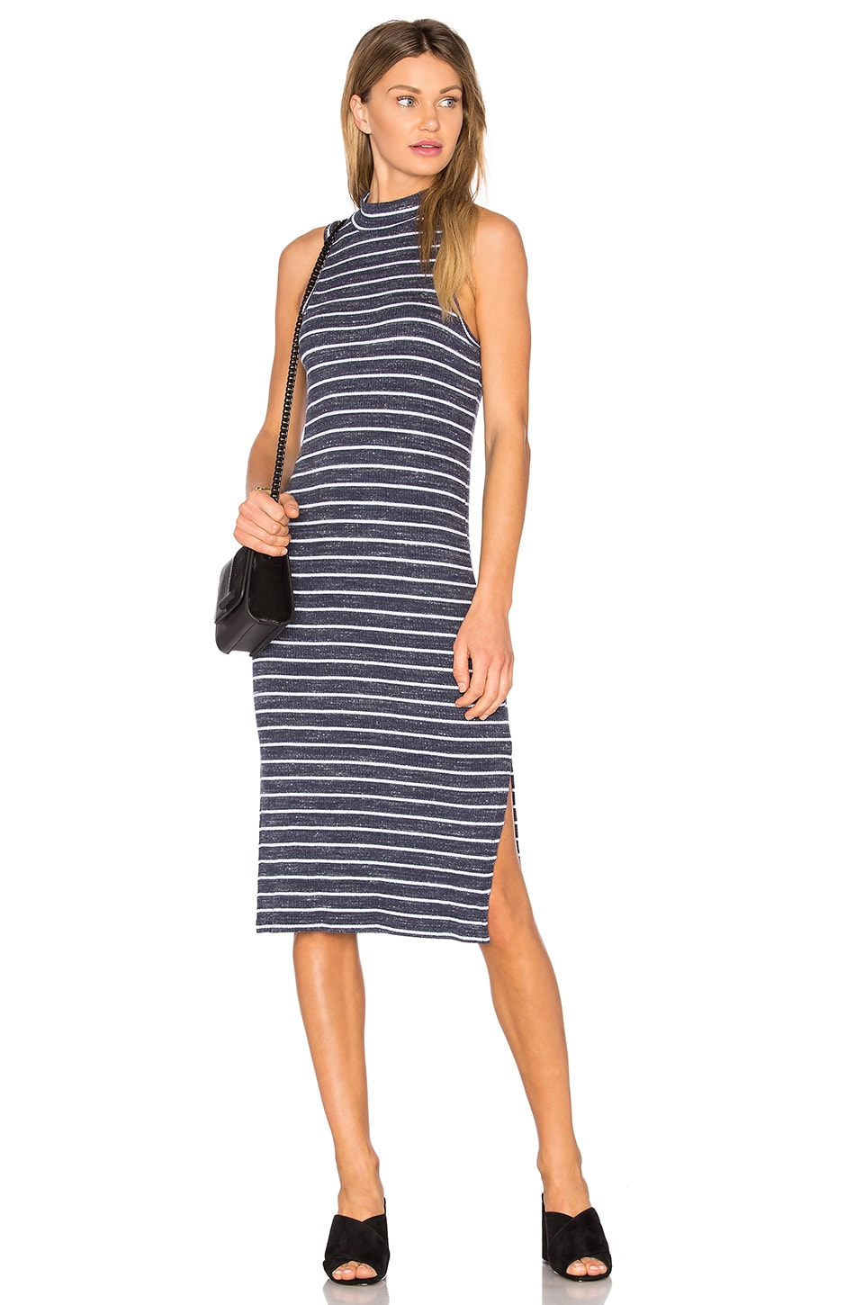 Striped Space Dye Rib Dress by Splendid