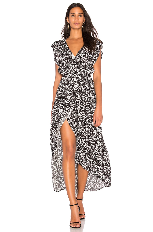 Splendid Wrap Dress in Black Multi