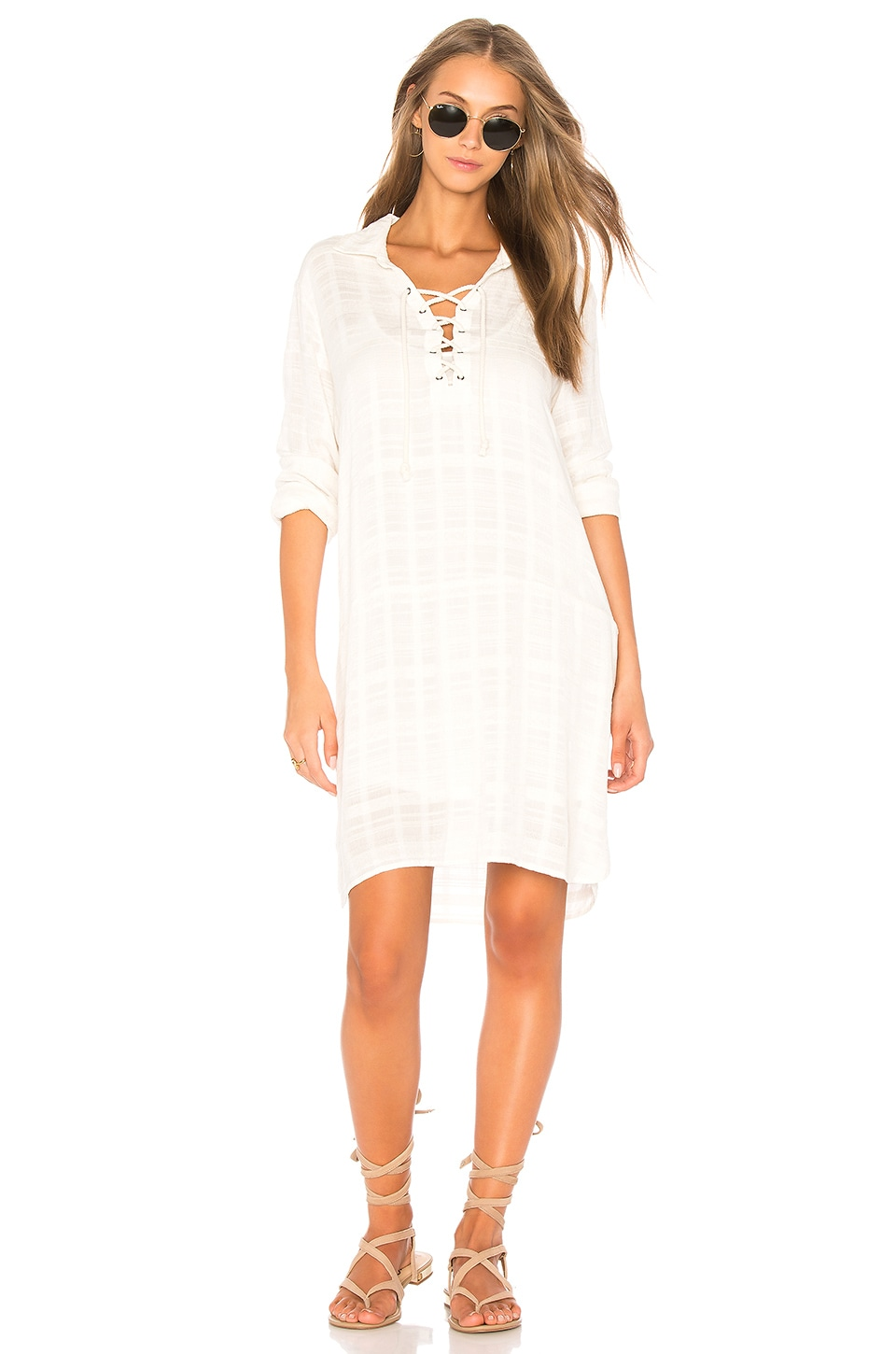 Sandbar Stripe Lace Up Dress by Splendid