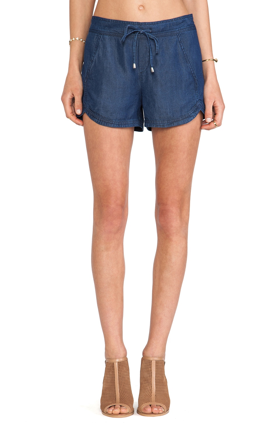 Splendid Indigo Dye Shorts in Dark Wash