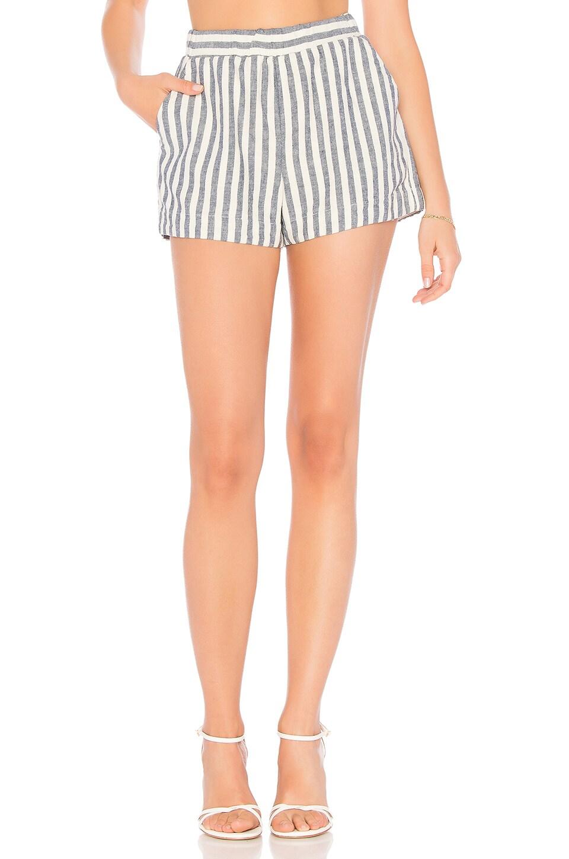 Linen Blend Stripe Short