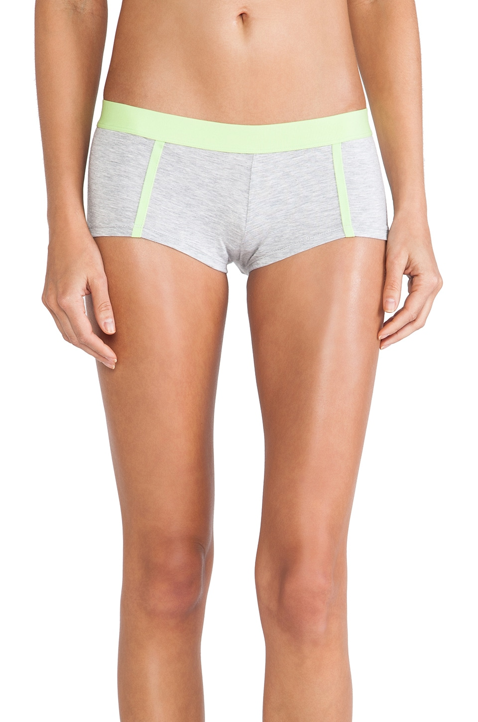 Splendid Banded Boyshort in Heather Grey