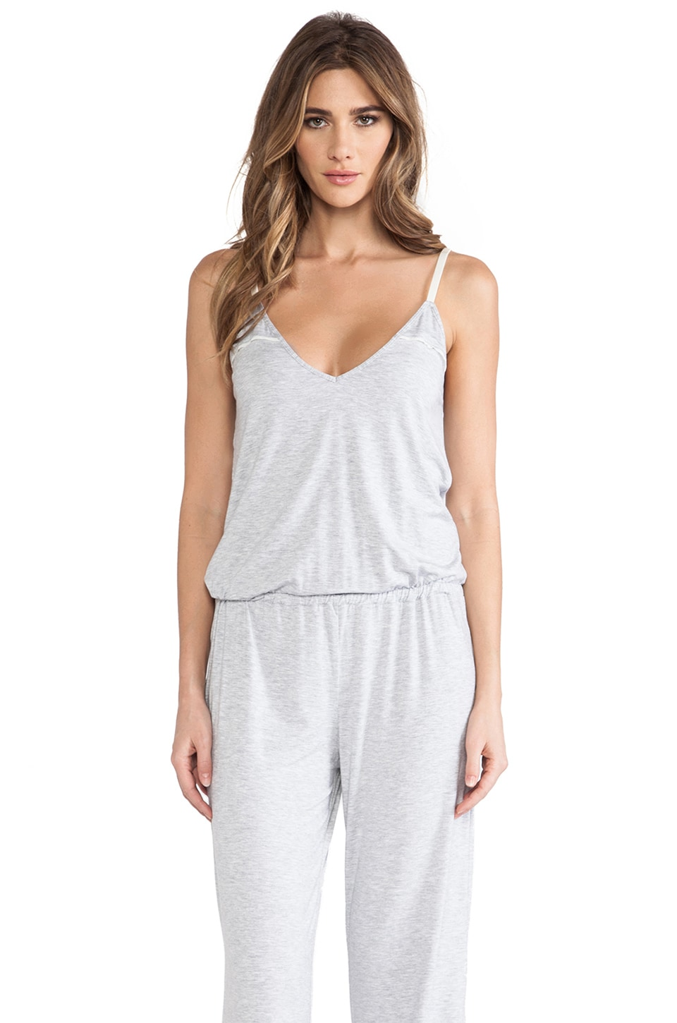 Splendid Essential Long Romper in Heather Grey