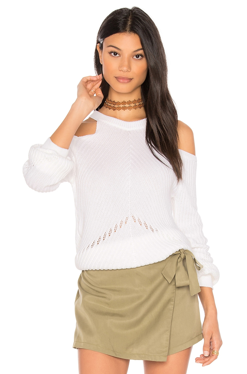 Belle Cold Shoulder Sweater by Splendid