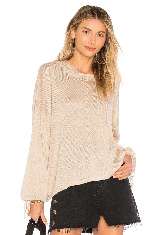 Splendid Seabound Cashmere Sweater in Heather Oatmeal