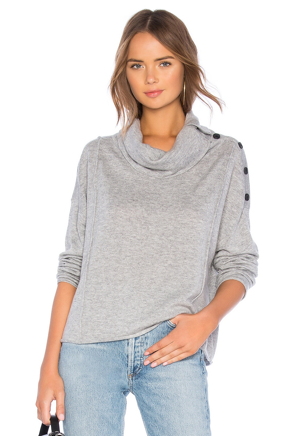 Splendid Runyon Sweater in Heather Grey