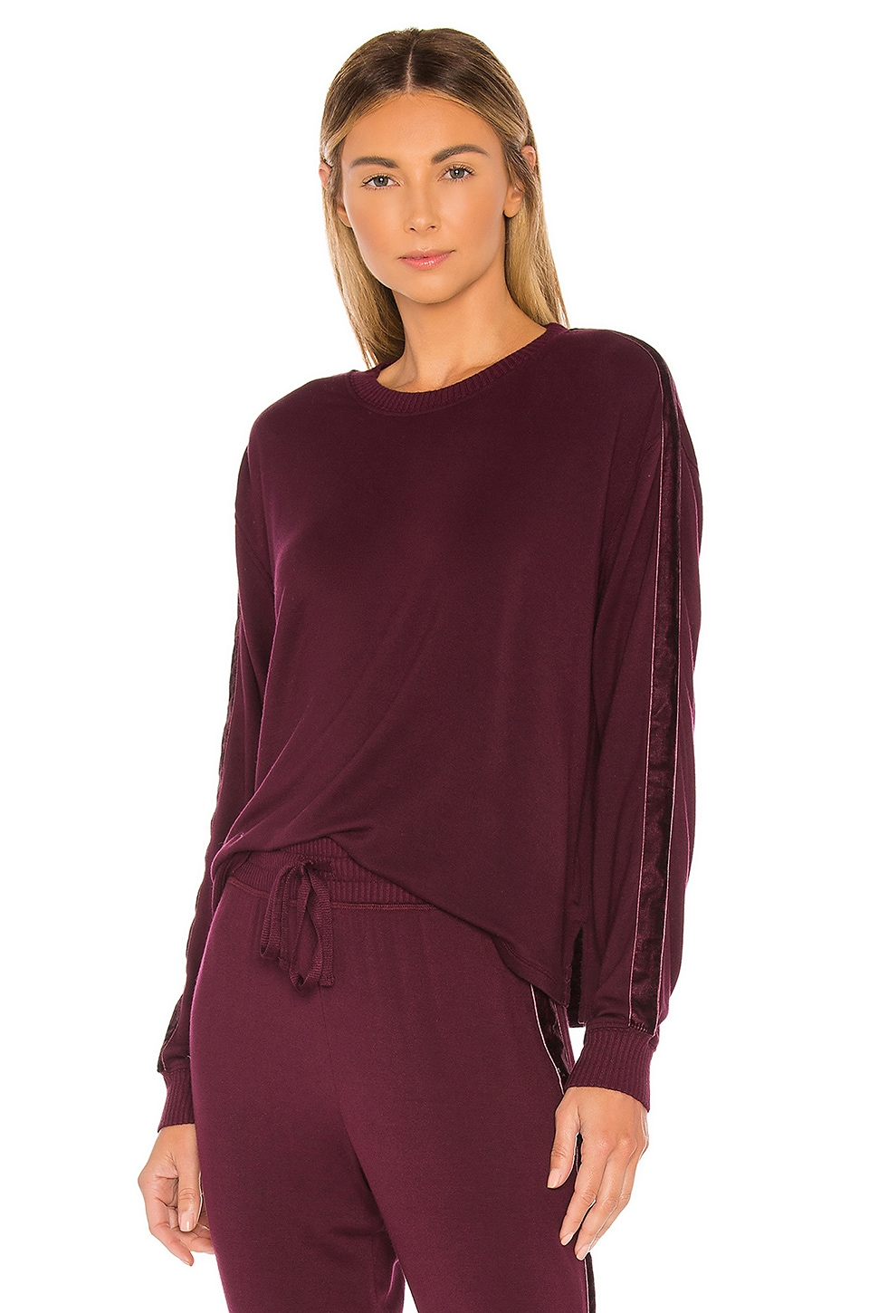 Splendid Super Soft Sweatshirt in Aubergine