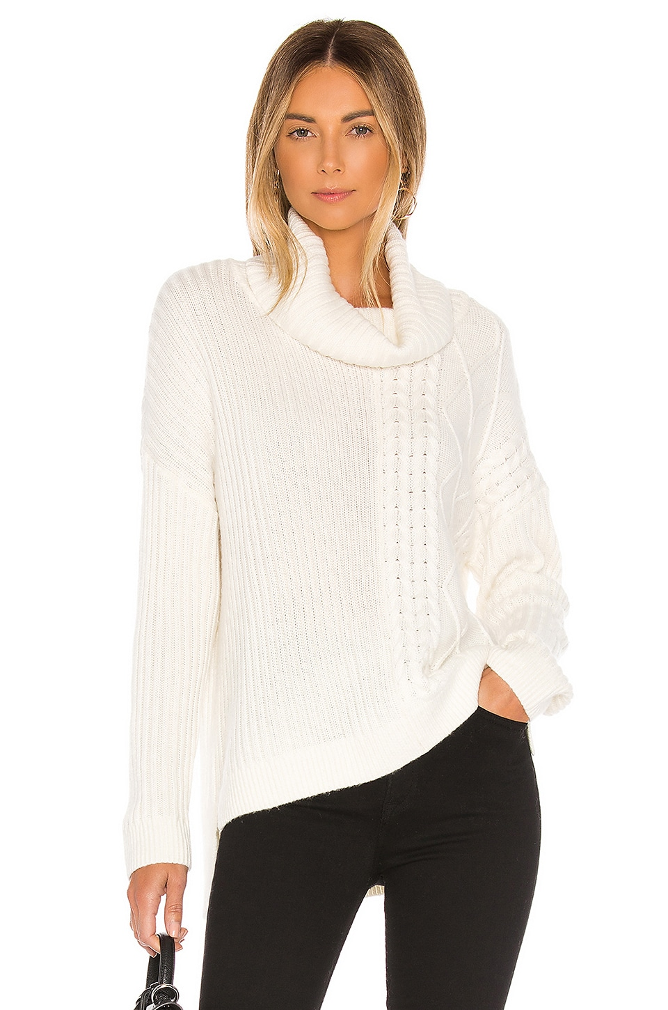 Splendid Sweaters Lakewood Cable Cashmere Blend Sweater