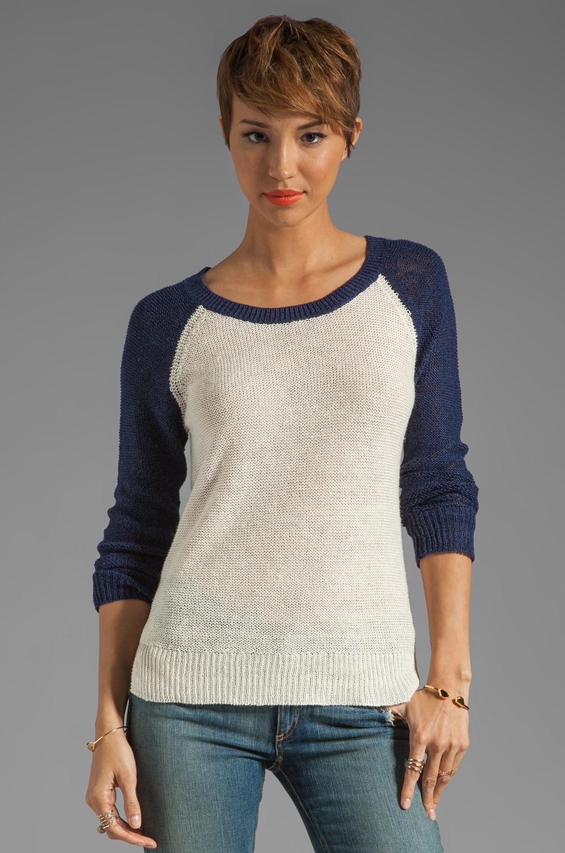 Splendid Coastal Linen Sweater in Navy