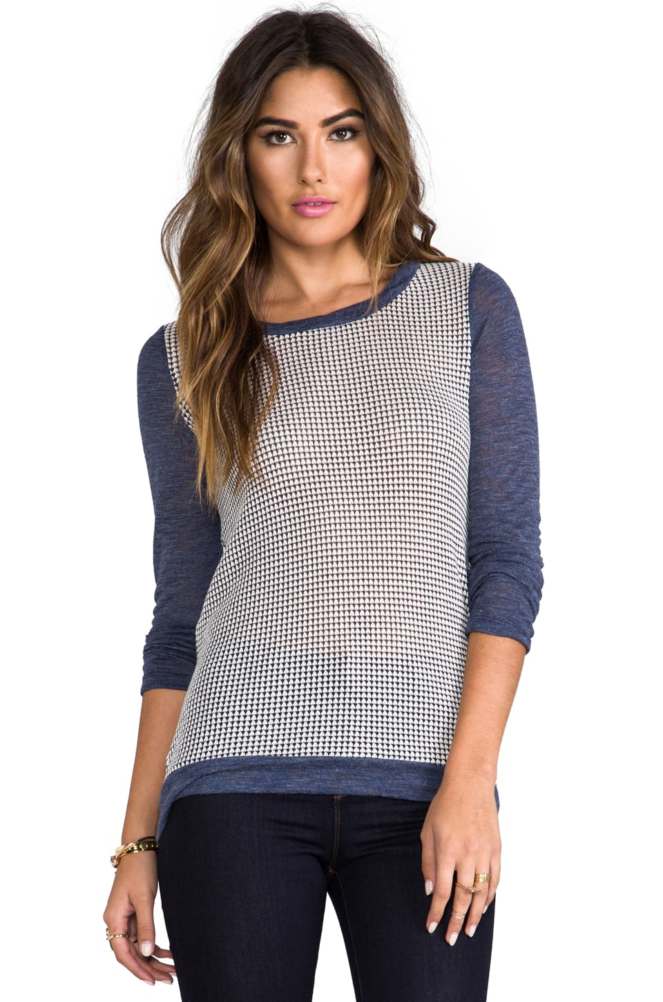 Splendid Azulon Jersey Knit in Heather Navy