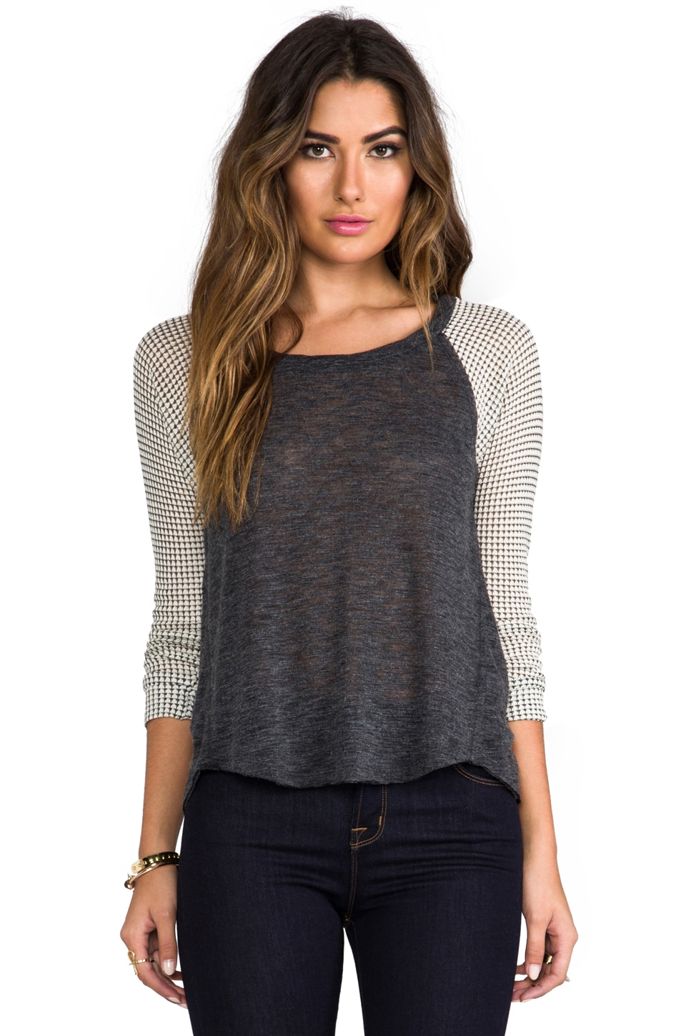 Splendid Azulon Knit Jersey in Charcoal