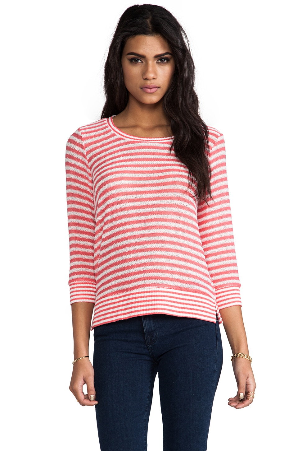Splendid Deco Stripe Knit in Flame