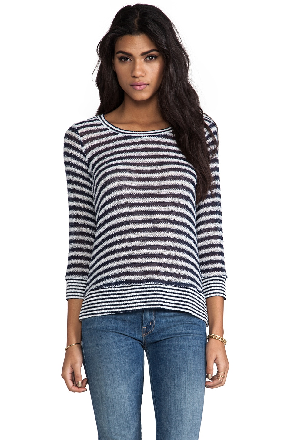 Splendid Deco Stripe Knit in Navy
