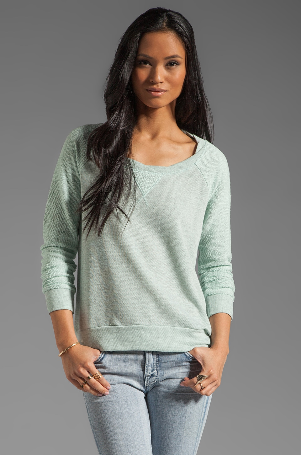 Splendid Boardwalk Active Sweatshirt in Julep