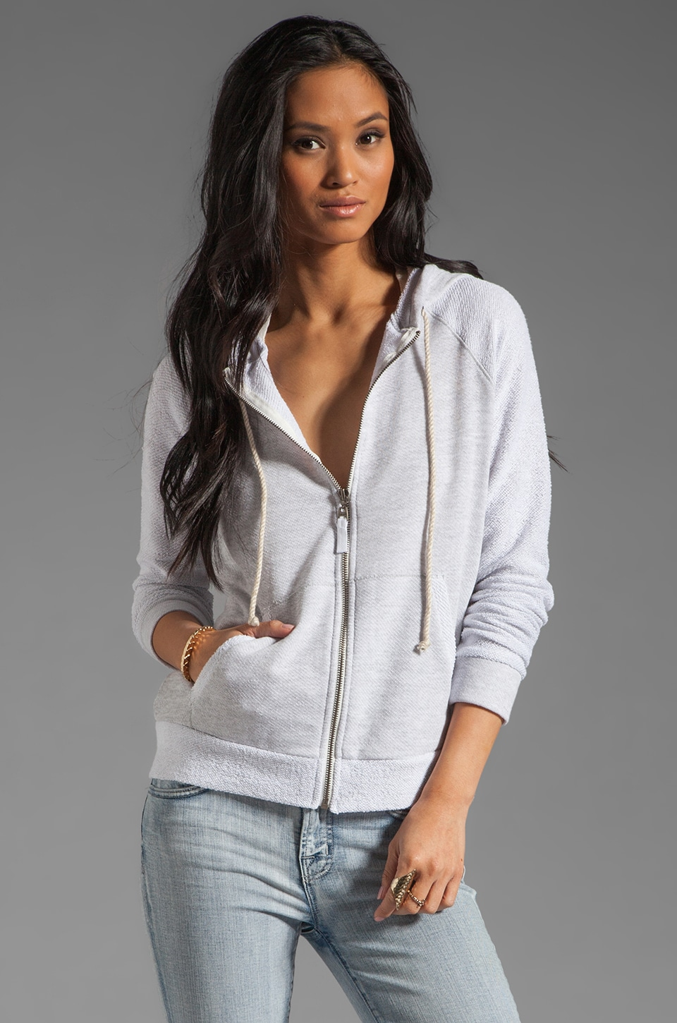 Splendid Boardwalk Active Hoodie in Heather Grey