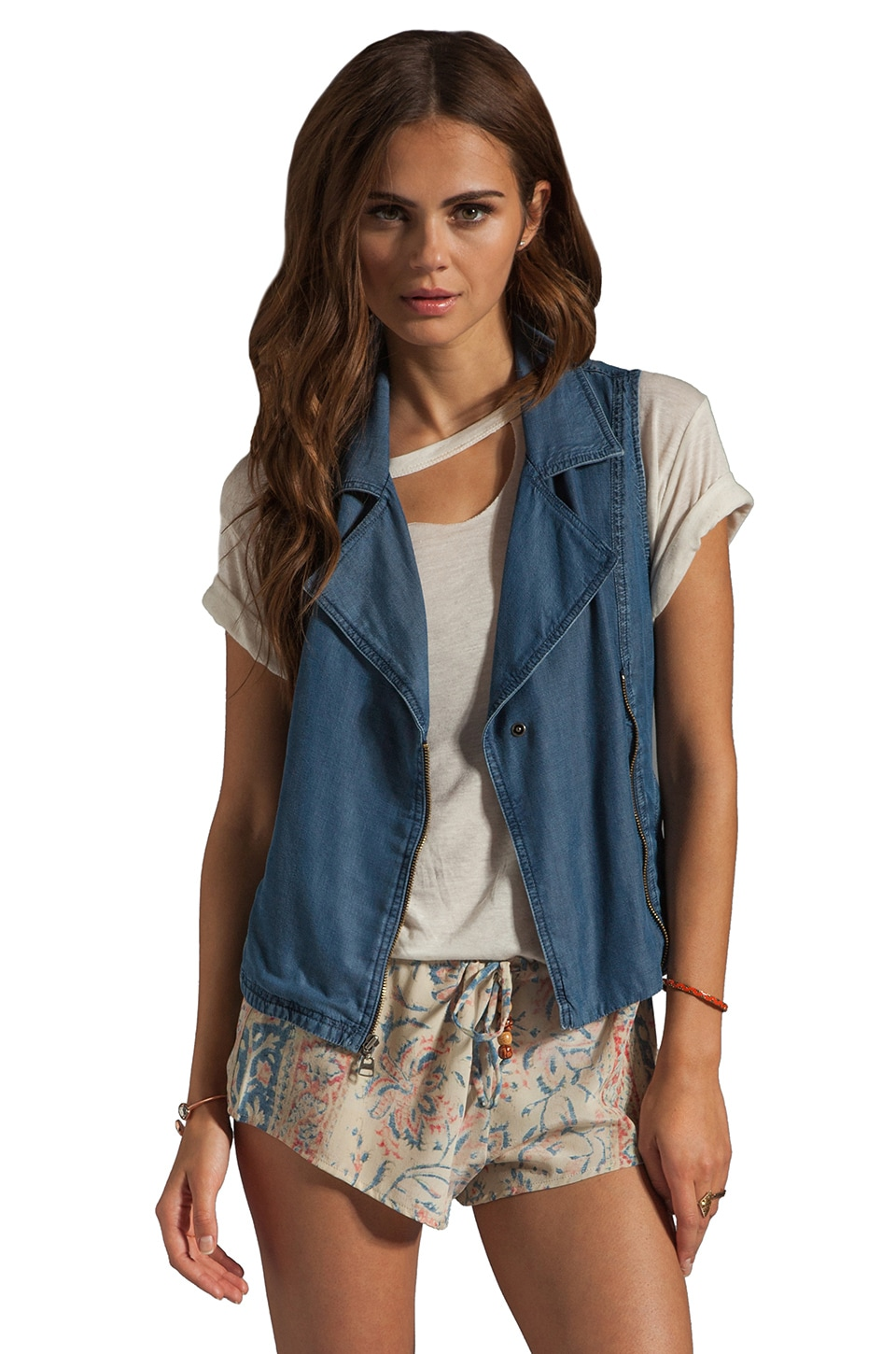 Splendid Indigo Vest in Chambray