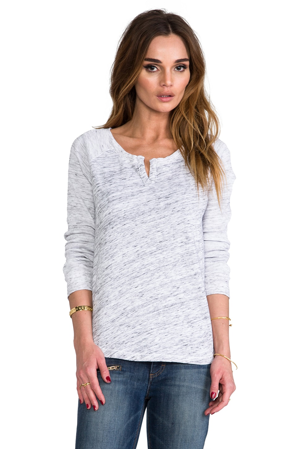 Splendid Space-Dyed Sweatshirt in Ash