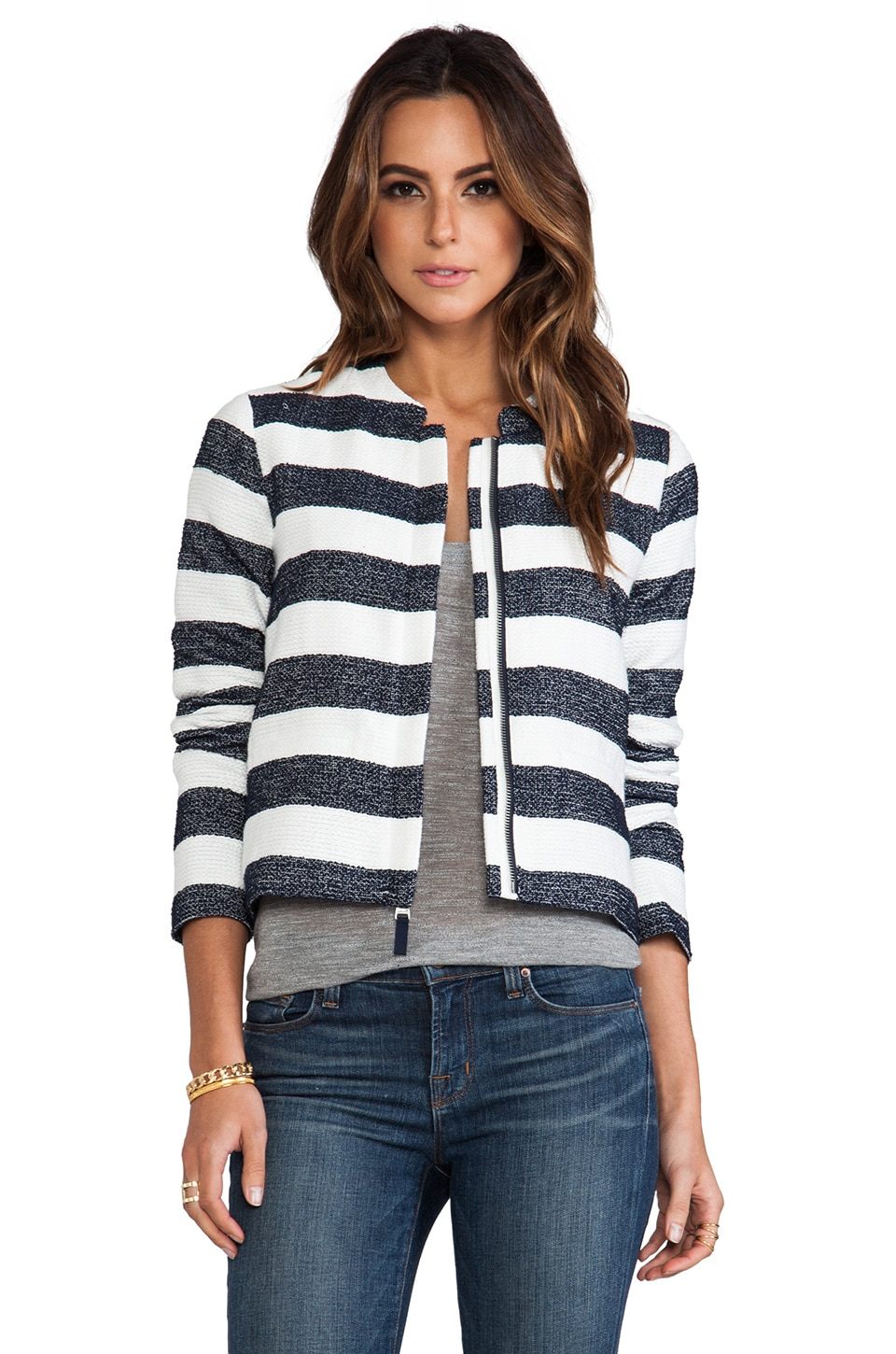 Splendid Monterey Boxy Jacket in Navy