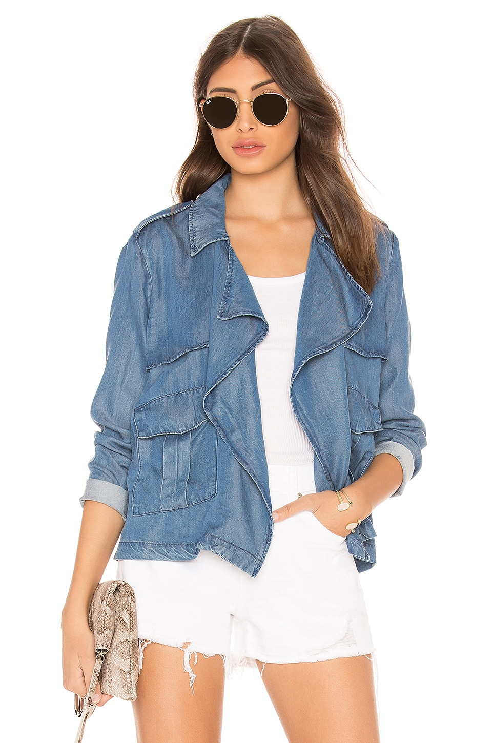 Splendid Soft Denim Jacket in Medium Wash
