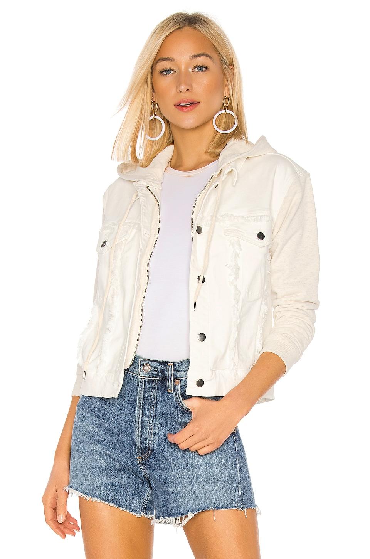 Splendid Jesse Mix Media Jacket in Off White