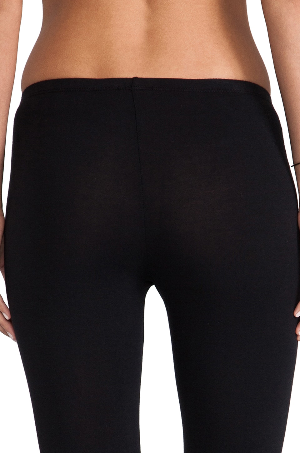 Splendid Modal Lycra Cropped Legging in Black