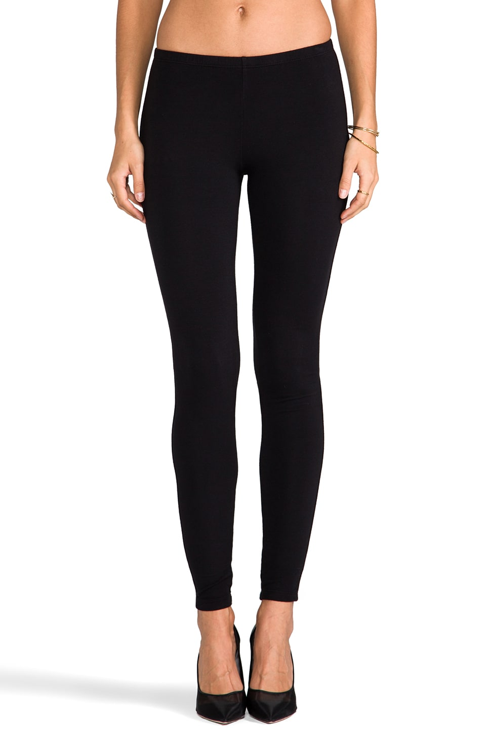 Splendid French Terry Leggings in Black
