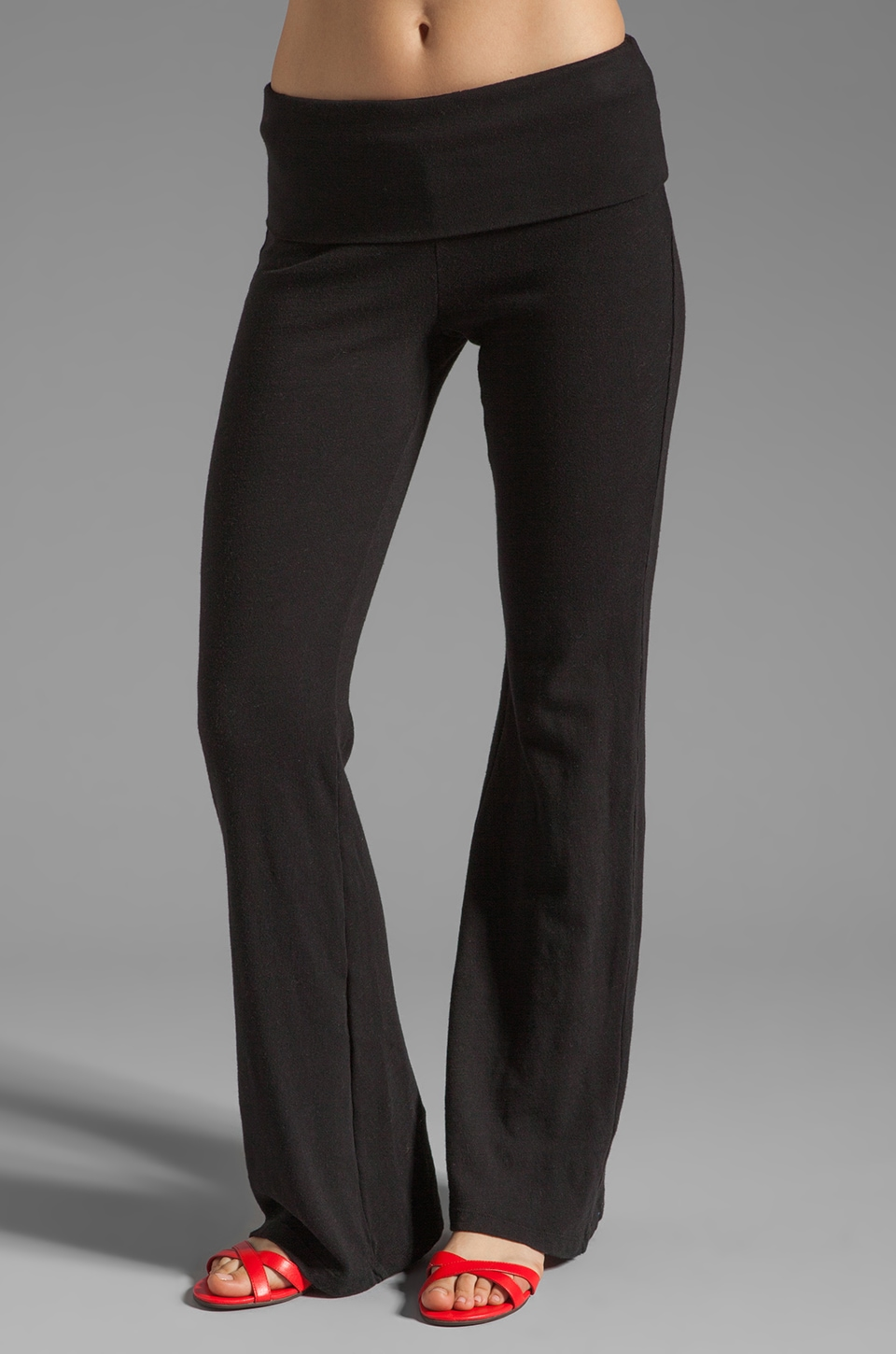 Splendid Slub Active Pant in Black