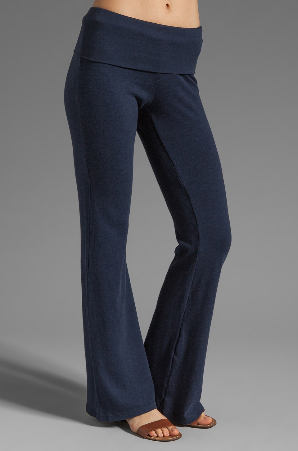 Splendid Slub Active Pant in Navy