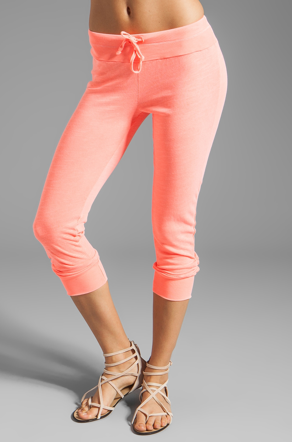 Splendid Slub Active Sweatpants in Neon Coral