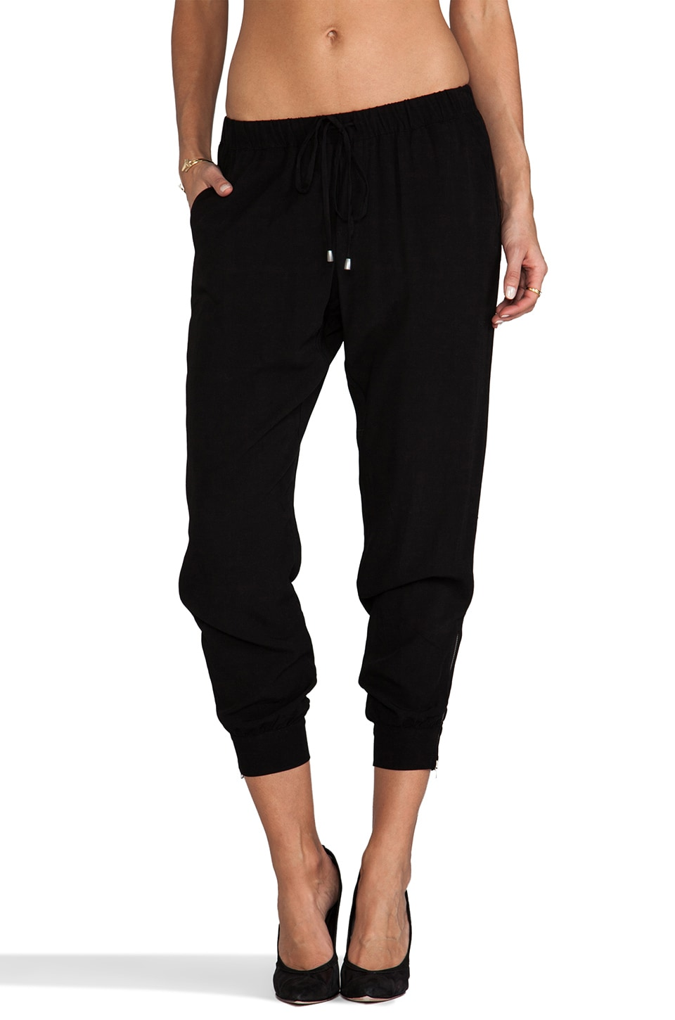 Splendid Track Pant in Black