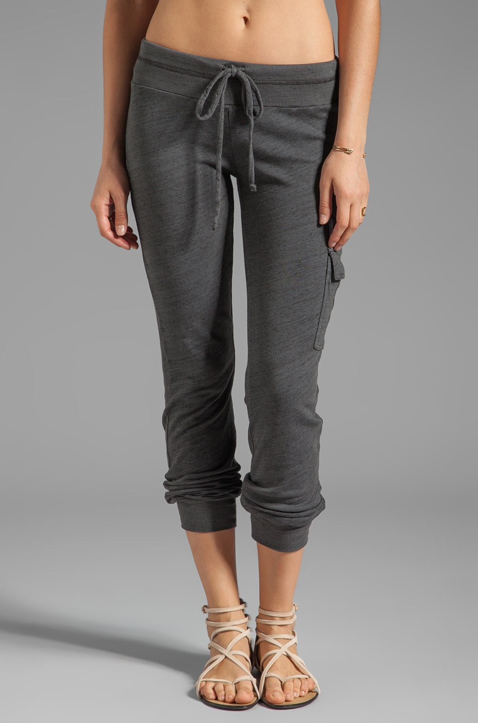 Splendid Space-Dyed Heather Active Sweat Pant in Coal