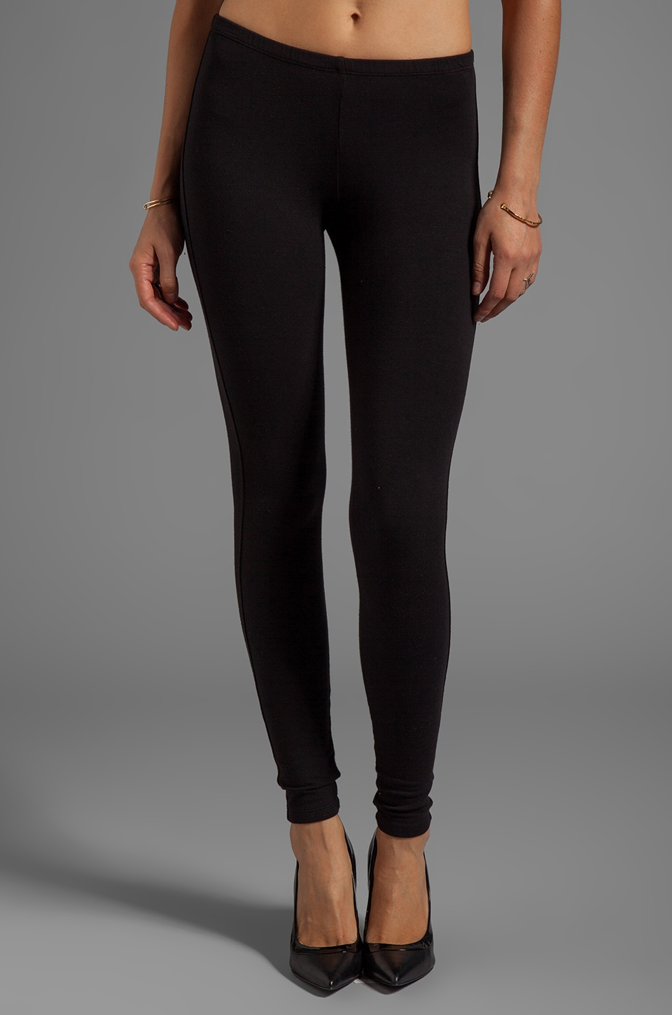 Splendid French Terry Legging in Black