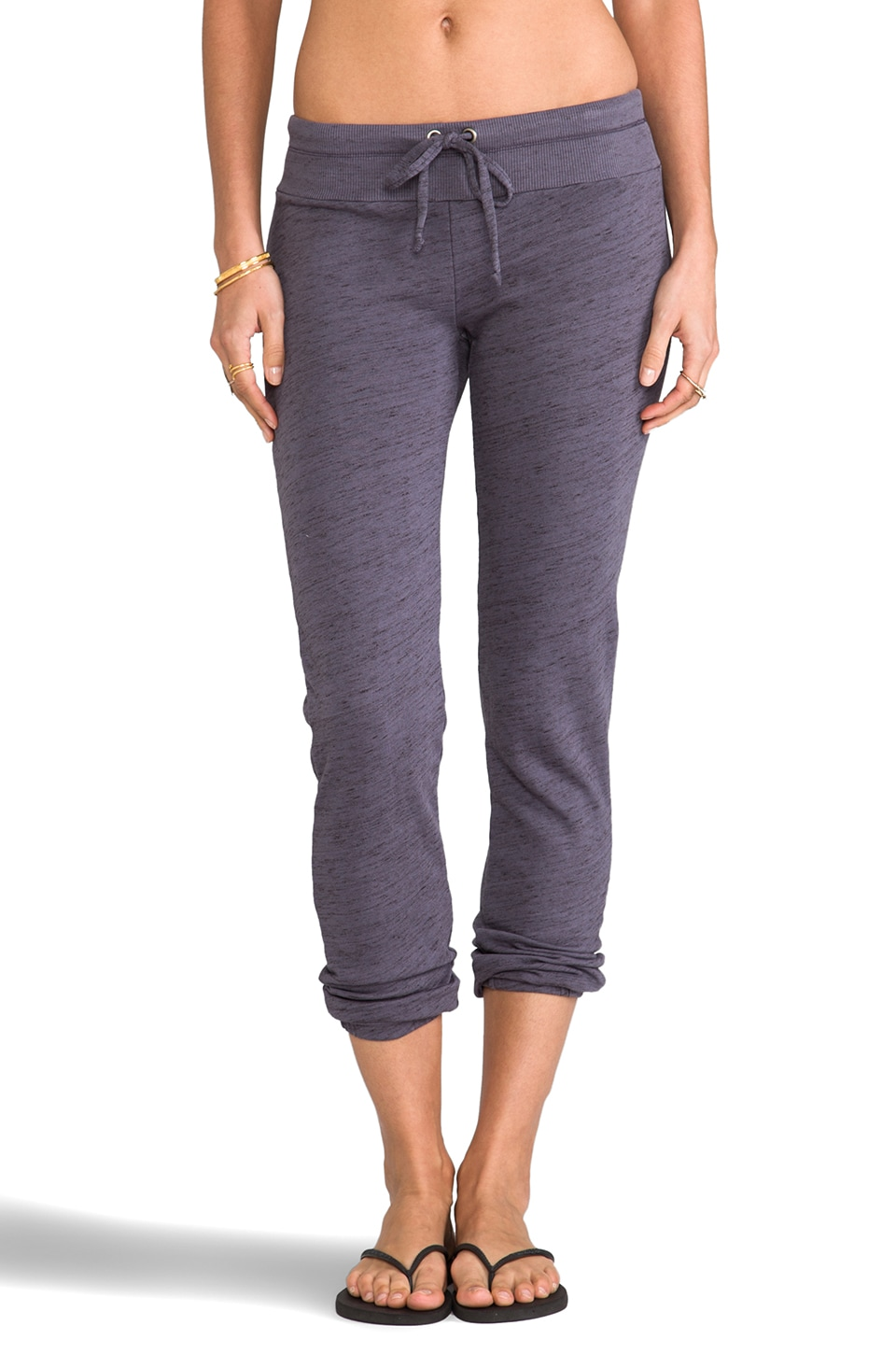 Splendid Space-Dyed Heather Active Sweatpant in Dark Slate
