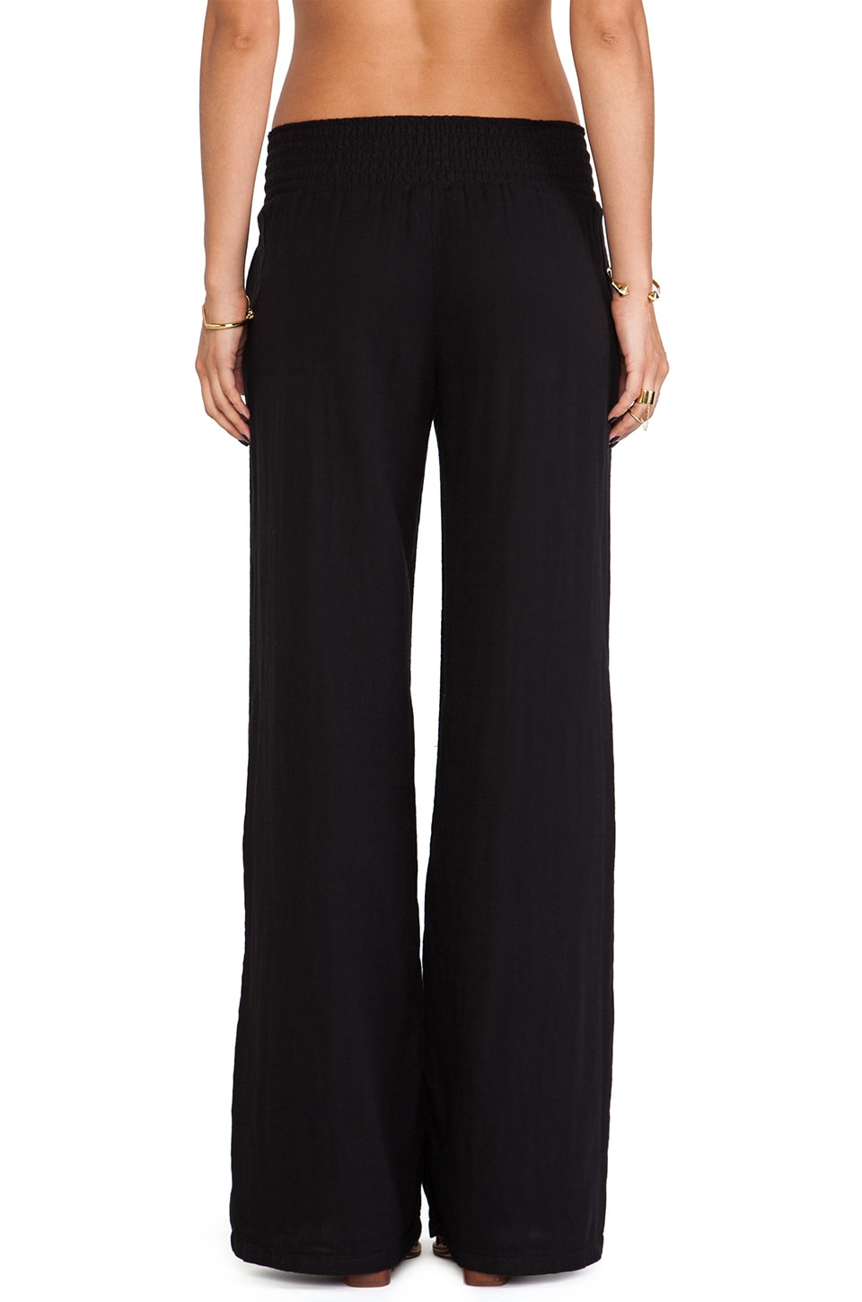 Splendid Woven Wide Leg Pants in Black | REVOLVE