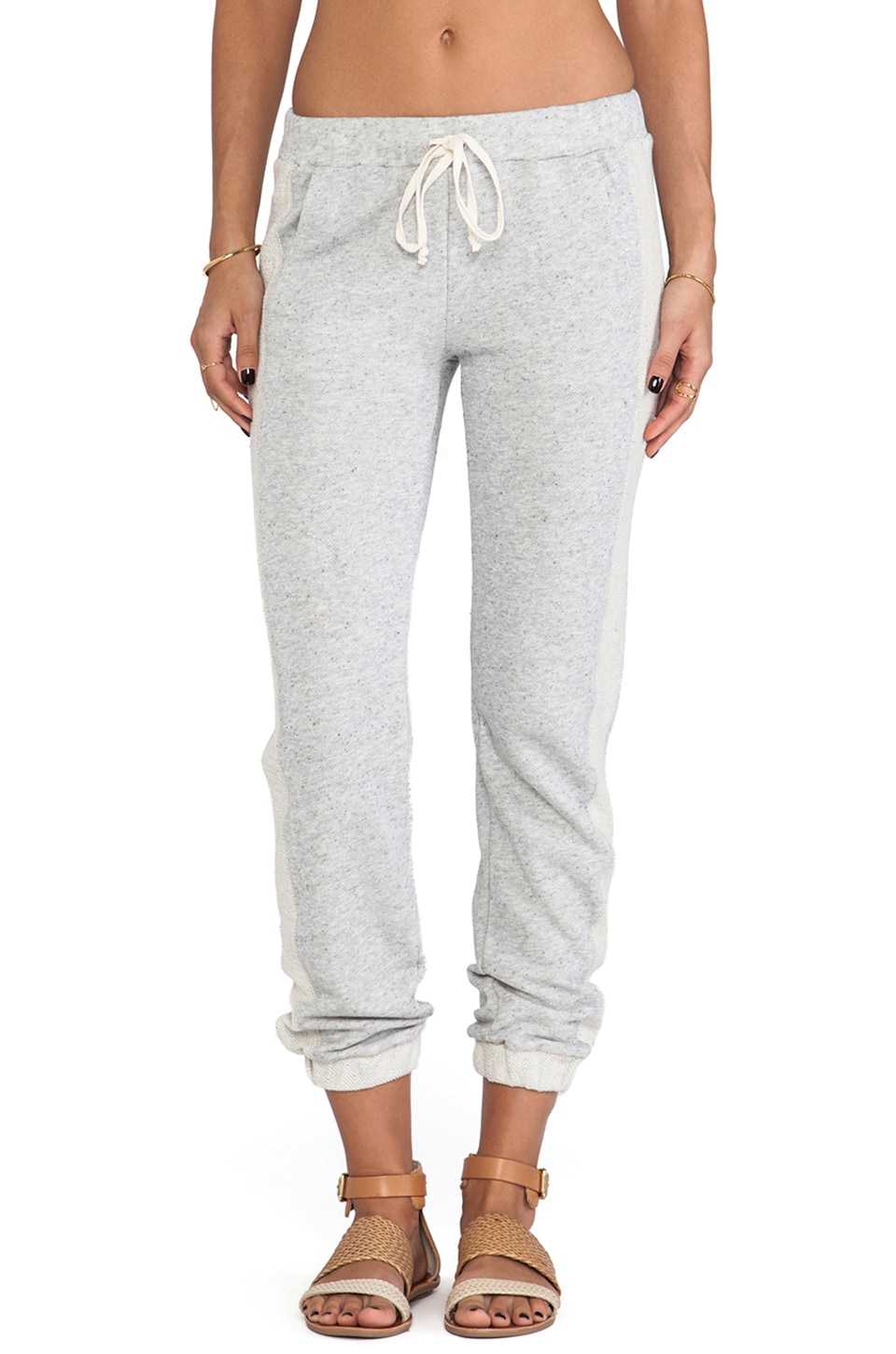 Splendid Desert Sands Terry Sweatpant in Heather Grey