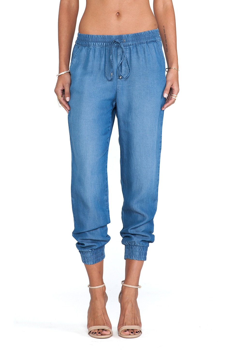 Splendid Indigo Dye Jogger in Medium Wash