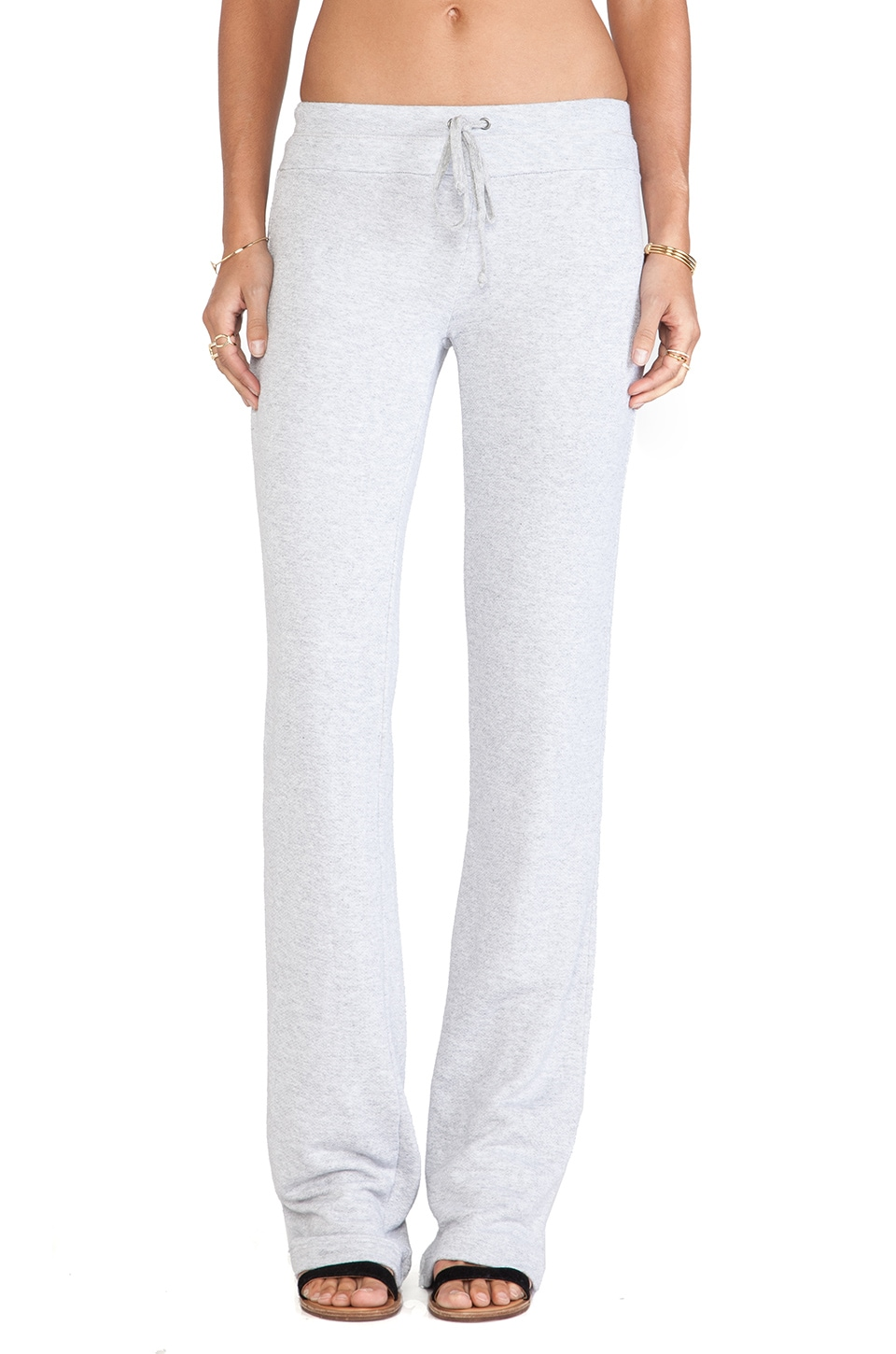 Splendid Flared Lounge Pants in Heather Grey