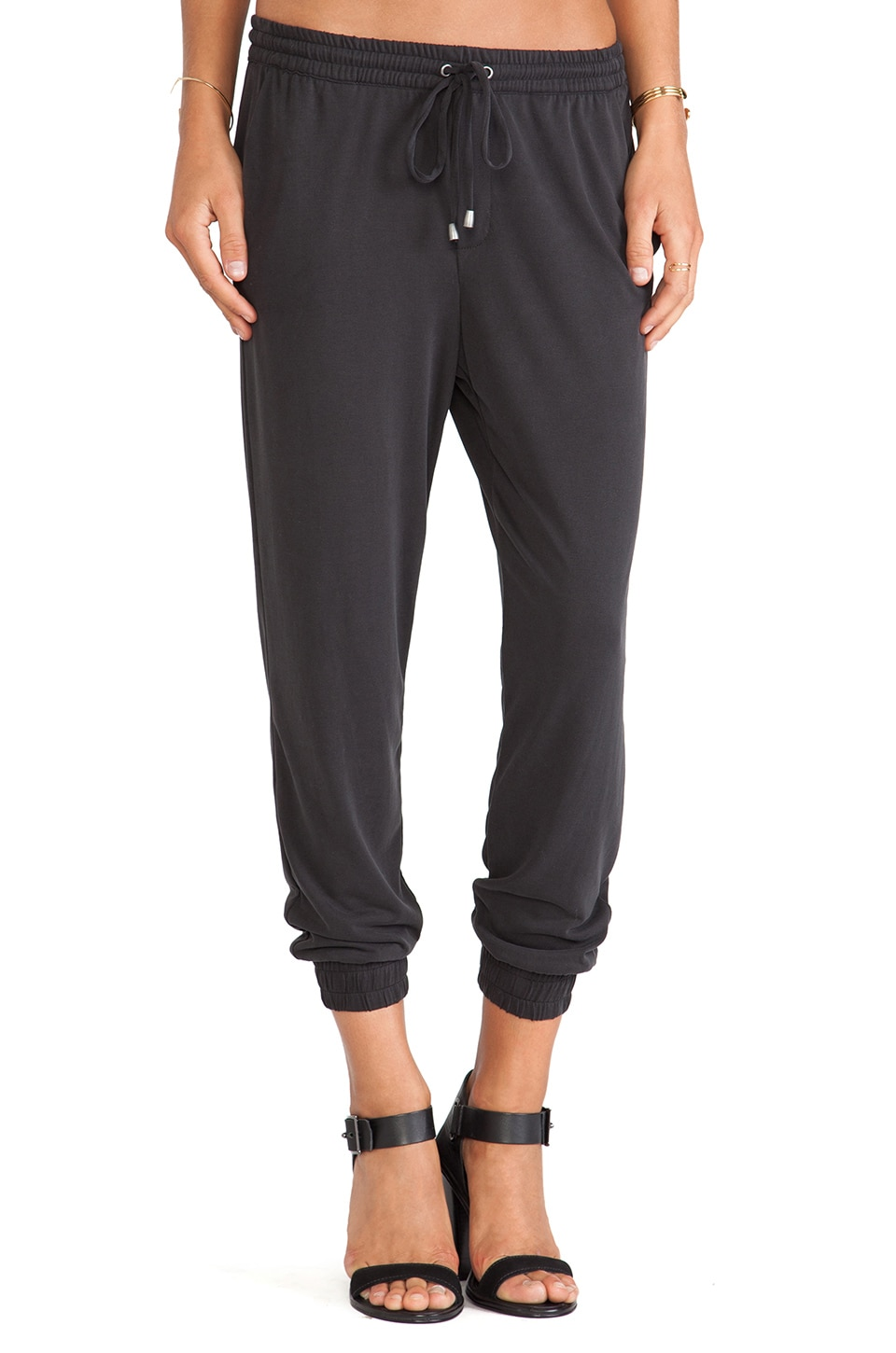 Splendid Sandwash Jersey Pant in Black