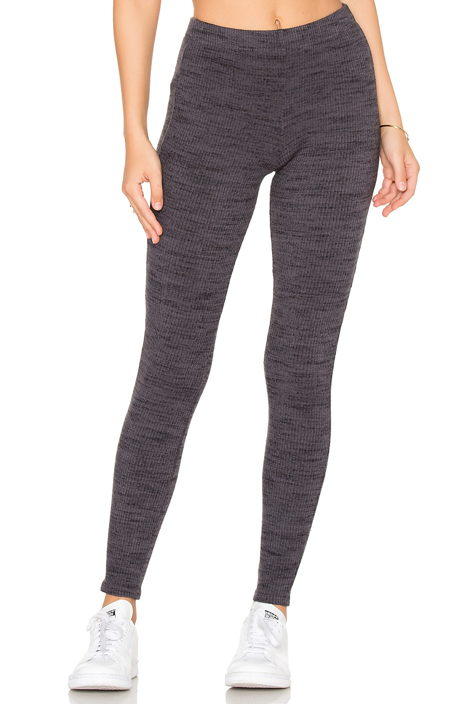 Splendid Brushed Tri-Blend Legging in Asphalt