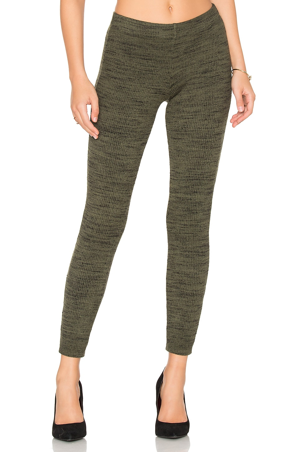 Splendid Brushed Tri-Blend Legging in Moss