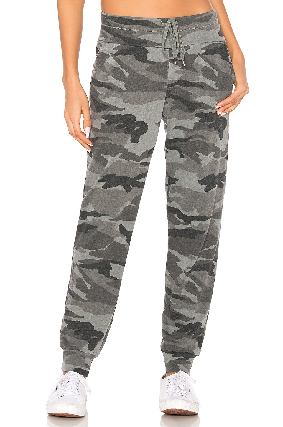 Splendid Camo Field Jogger in Vintage Olive Branch