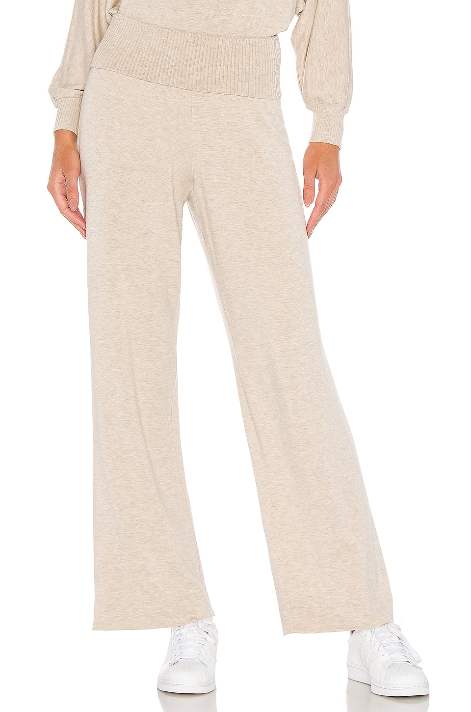 Splendid Super Soft Rib Pant in Heather Oatmeal