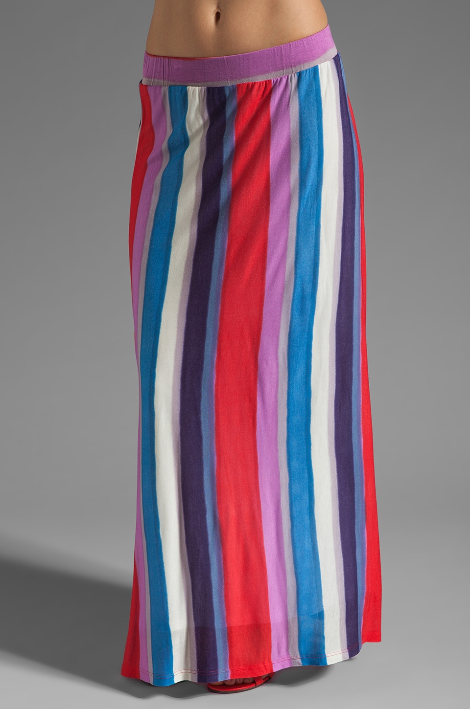 Splendid Watercolor Stripe Maxi Skirt in Firework
