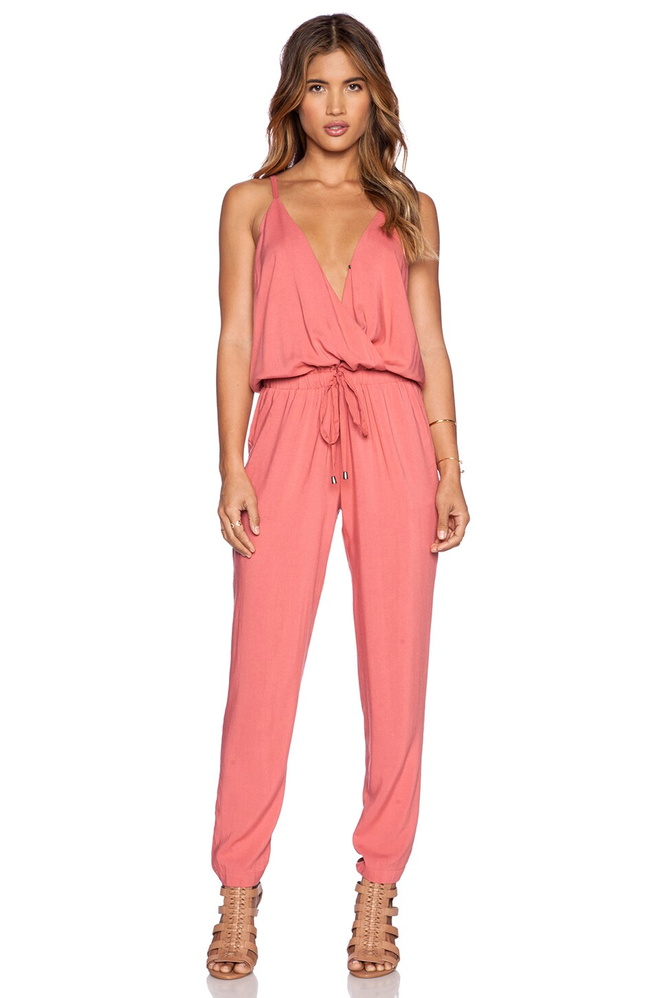 171a71c0d3ca Splendid Rayon Voile Jumpsuit in Sienna