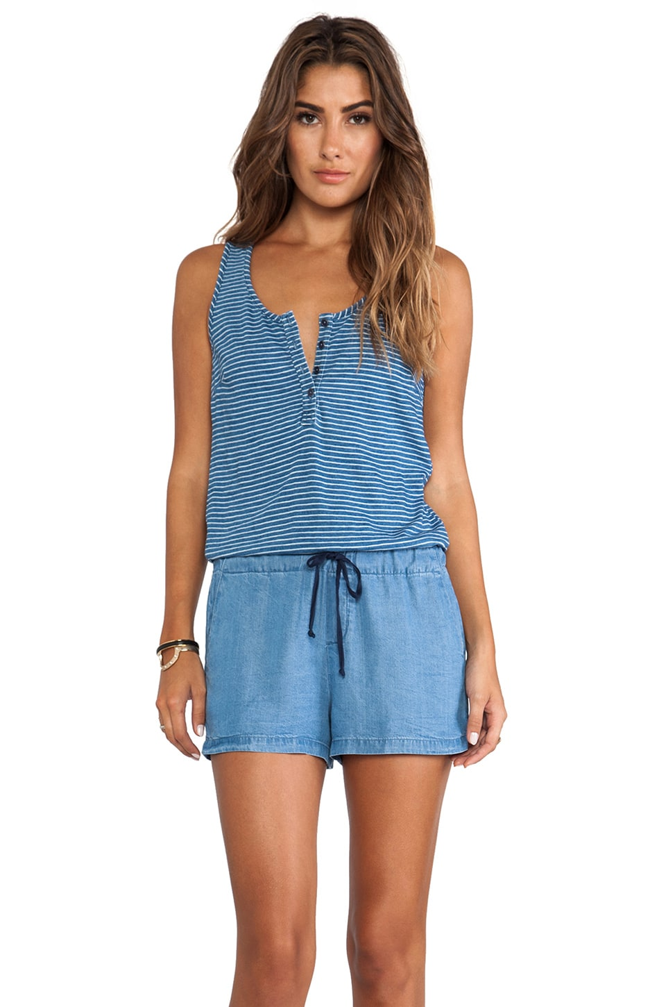 Splendid Mini Romper in Medium Wash